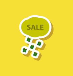 fashion patch sale sticker gift rain vector image vector image