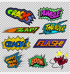 fighting sound effect vector image