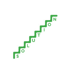 Flat design style concept of stairs with vector