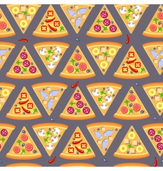 Flat style seamless pattern pizza background vector