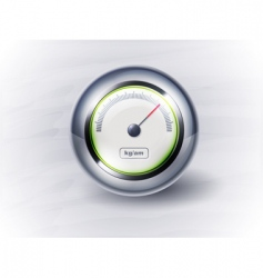 Icon speedometer or clock eps vector