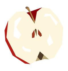 Isolated cut apple vector