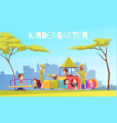 Kindergarten playing ground composition vector
