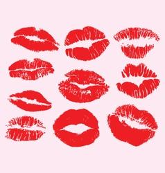 Lipstick marks vector