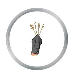 Lockpicks icon in cartoon style isolated on white vector