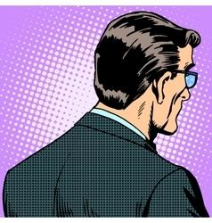 Man businessman back vector image
