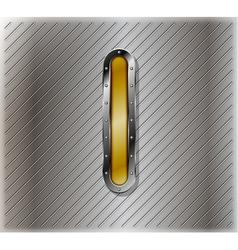 Metallic number one vector image vector image