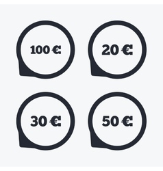 Money in euro icons hundred fifty eur vector