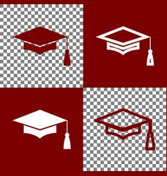Mortar board or graduation cap education symbol vector