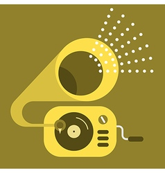 Old gramophone icon vector