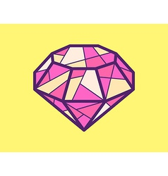 Red ruby on yellow background vector