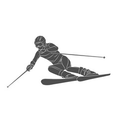 skiing slalom athlete winter sports vector image vector image