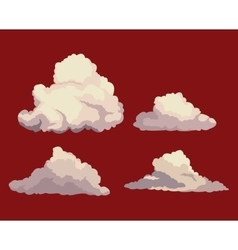 Sky clouds red background design vector