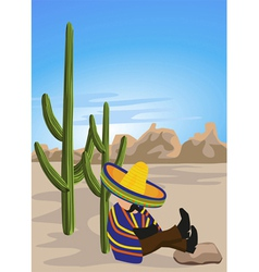 sleeping mexican vector image vector image