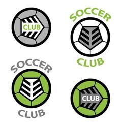 Soccer club emblem ball shoelace vector