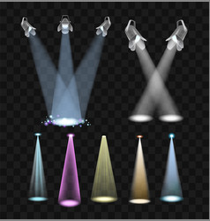 Spotlight effects - set of projector lights vector
