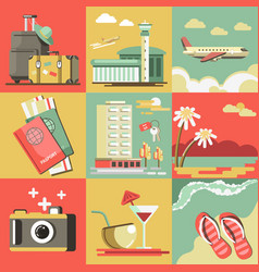 summer travel or holiday vacation ocean vector image vector image