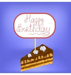 Sweet Cake Isolated vector image vector image