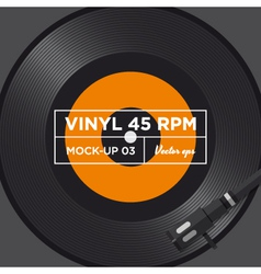 vinyl 45 rpm mockup 03 vector image