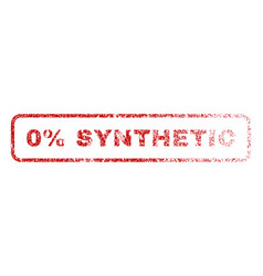 0 percent synthetic rubber stamp vector