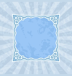 Decorative blue vintage frame and background vector