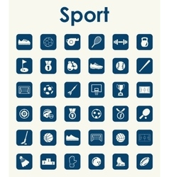 Set of sport simple icons vector