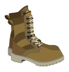 Army boots in style vector