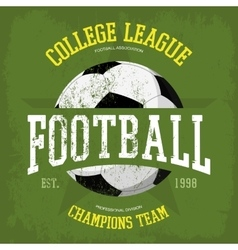 Logo for soccer or football t-shirt vector
