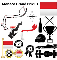 Monaco Grand Prix F1 vector image