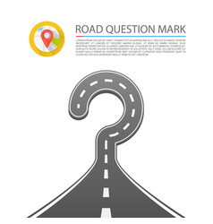 Road question mark vector