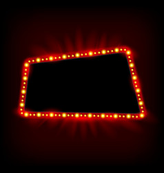 retro light banner theater cinema sign vector image