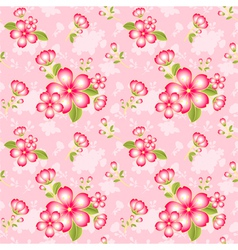 Oriental Flower Seamless Pattern vector image