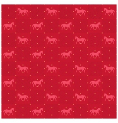 Happy new year red horse seamless pattern vector