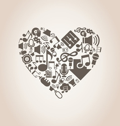 Musical heart8 vector