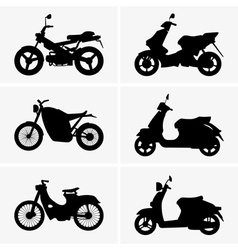 Motorbikes and scooters vector