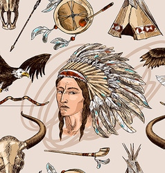Native american vector