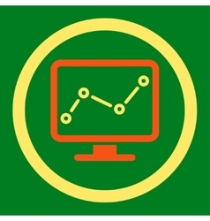 Monitoring icon vector