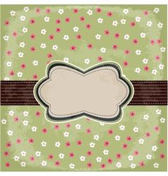 vintage polka dot design vector image