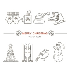 Christmas frame template card vector