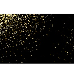 gold glitter texture on a black background vector image