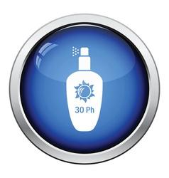 Sun protection spray icon vector