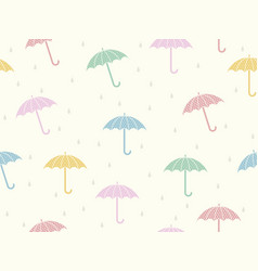 a seamless umbrellas background vector image vector image