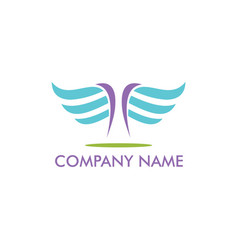 abstract wing fly company logo vector image vector image