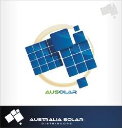 Australia solar logo vector