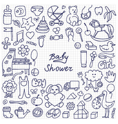 baby shower sketch vector image vector image