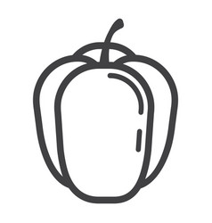 Bell pepper line icon vegetable and sweet vector
