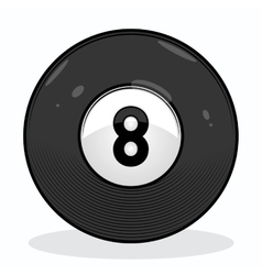 Billiard eight ball vector