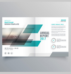 brand business magazine cover template layout vector image vector image