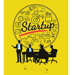 Business meeting for start up concept vector