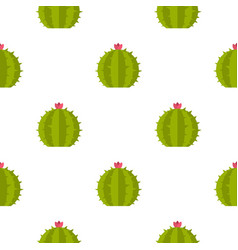 Cactus with flower pattern seamless vector